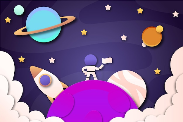 Paper style galaxy background