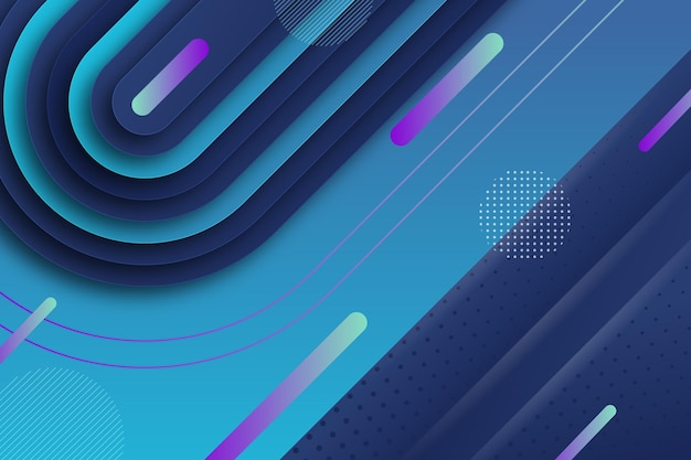 Paper style geometric dynamic lines background