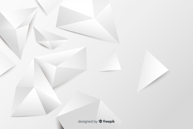 Paper style geometric models background