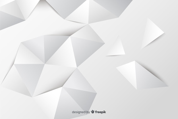 Paper style geometric shapes background