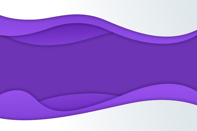 Sfondo viola ondulato sfumato in stile carta