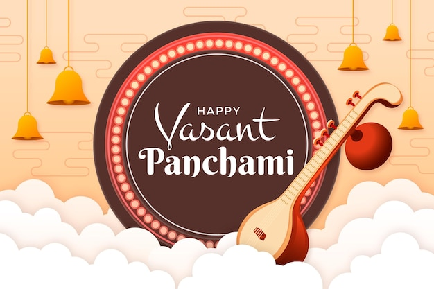 Paper style happy vasant panchami