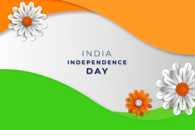 종이 스타일 인도 독립 기념일 그림