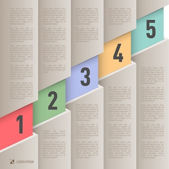 Paper style infographics