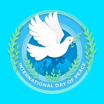 국제 평화 배경 종이 스타일