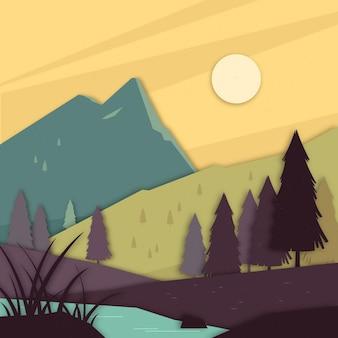 Paper style landscape design