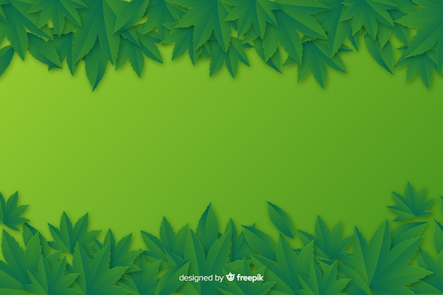 Paper style monochrome leaves background