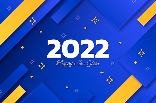 紙のスタイルの新年の背景