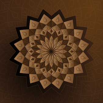 Paper style ornament with brown color, islamic decoration