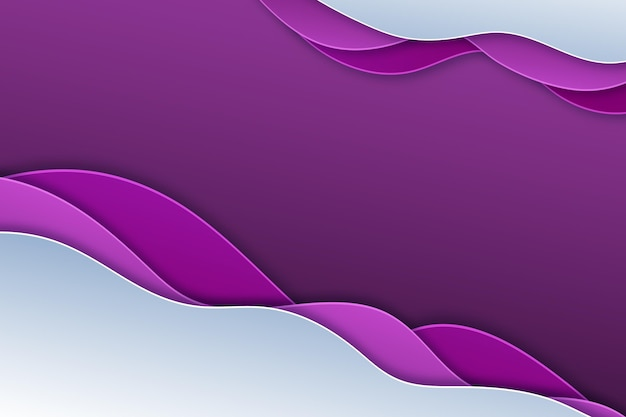 Sfondo ondulato sfumato viola stile carta