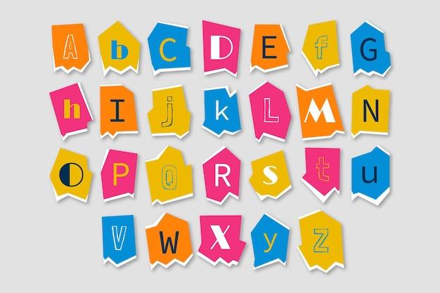 Raccolta di lettere di riscatto in stile carta