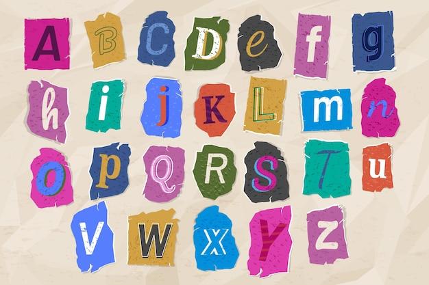 Collezione di lettere di nota di riscatto in stile carta