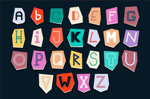 Paper style ransom note letter pack