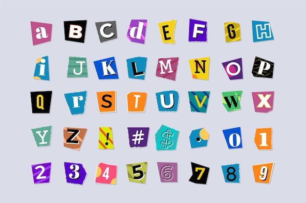 Pacchetto di lettere di riscatto in stile carta