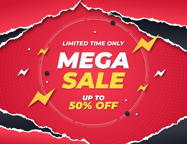 Paper style sale background