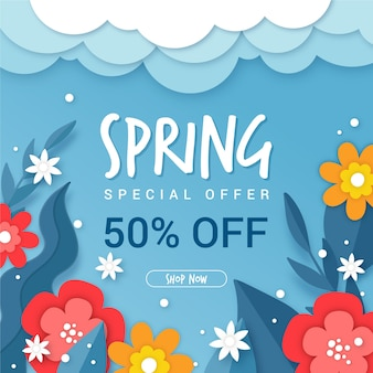 Paper style spring with special offer
