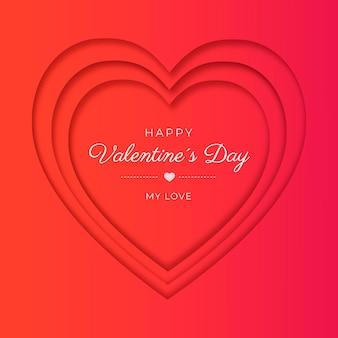 Paper style valentine's background