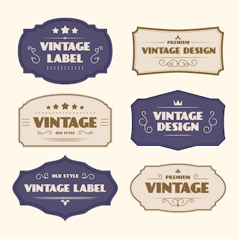 Paper style vintage labels template