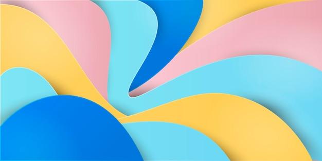 紙風の波状の背景