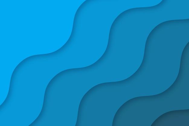 紙のスタイルの波状の青い背景