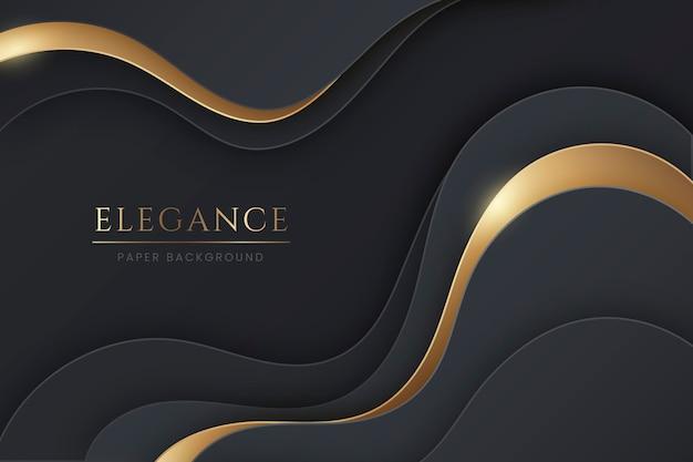 Бумажный стиль волнистый элегантный фон