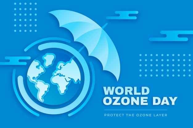 Sfondo della giornata mondiale dell'ozono in stile carta