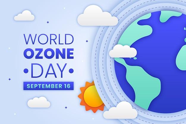 紙のスタイルの世界オゾンの日の背景
