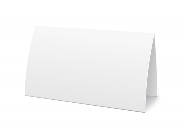 Paper table card, sign template