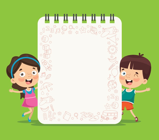 Paper template with children