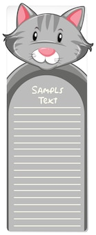 Paper template with gray cat