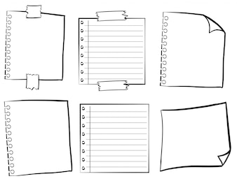 Paper templates in different designs