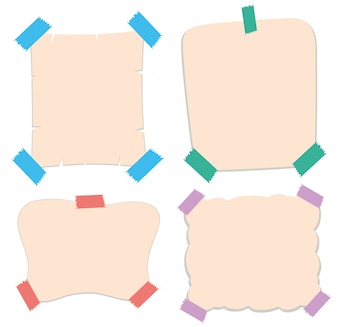 Paper templates in four styles