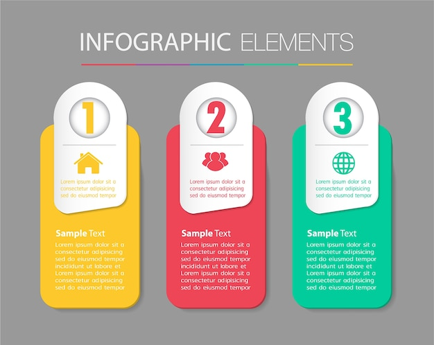 Paper text box template, banner infographics