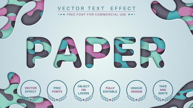 紙のテクスチャテキスト効果