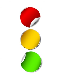 Paper traffic lights stickers