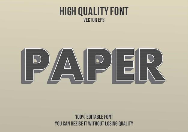 紙ベクトルテキストフォント効果