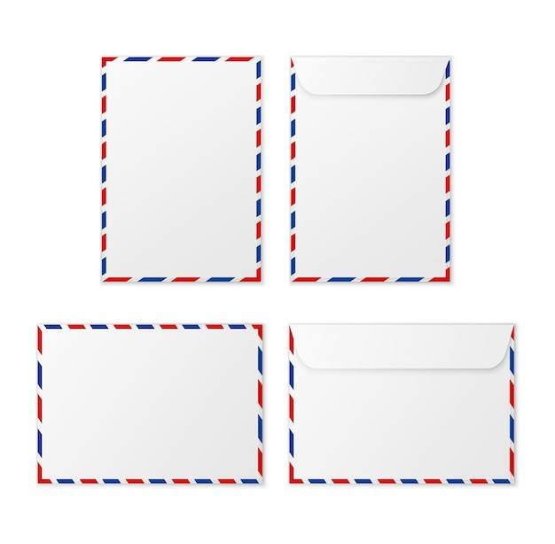 Paper white blank letter envelopes for vertical and horizontal document envelope a4