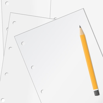 Paper with pencil