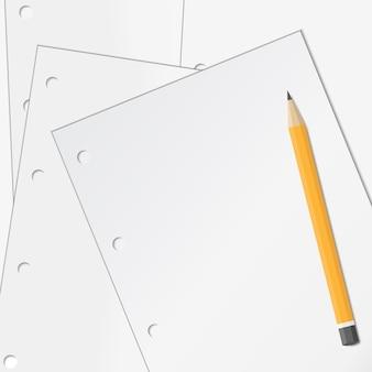 Бумага с карандашом