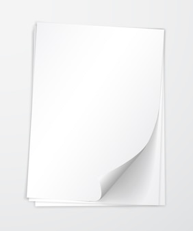 Paper with shadow  template, .