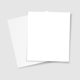 투명 한 배경에 그림자와 종이.