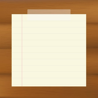 Paper on wooden brown background,