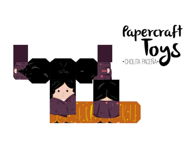 Papercraft cholita