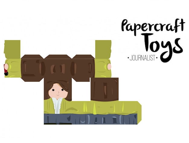 Papercraft journalist