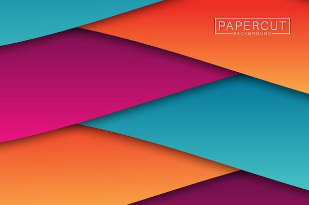 Papercut abstract background