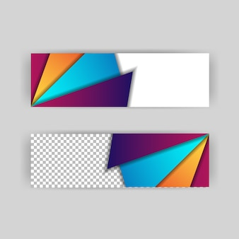 Papercut background layout of headers and banner