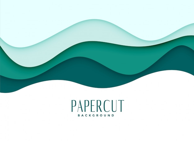 Papercut background in wavy style