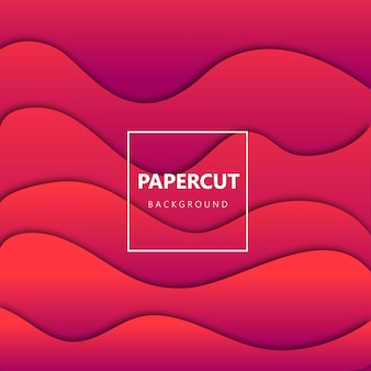 Papercut background with gradient style