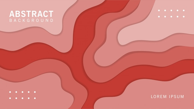 Papercut background with wavy shapes