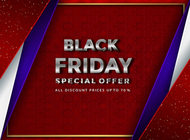 Papercut black friday  banner